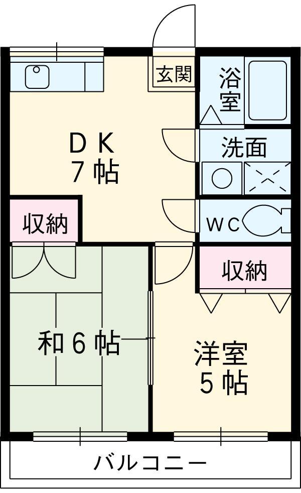 長谷川産業ビル・208号室の間取り