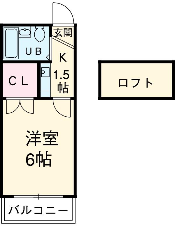 リバーサイド喜多山・205号室の間取り