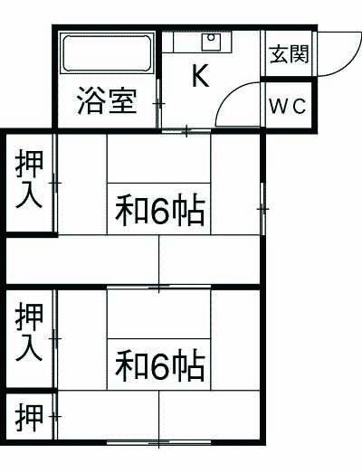 榎本荘 101号室の間取り