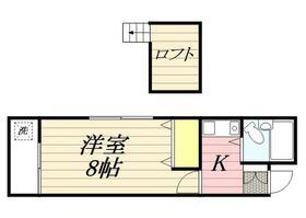 アルカディア二宮Ⅱ・0107号室の間取り