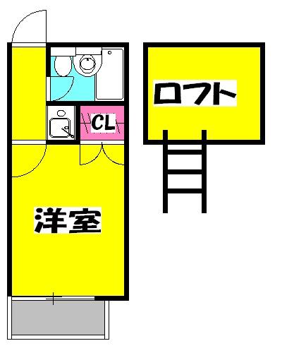 寺尾サイトーレオハウス・201号室の間取り