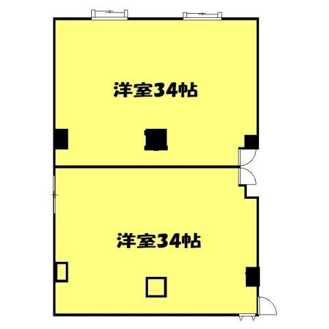 高萩駅前ビル・2-A号室の間取り