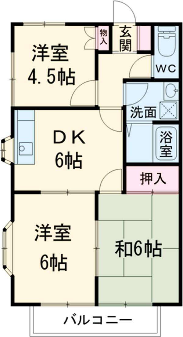 サンシティハイツ斉藤・203号室の間取り