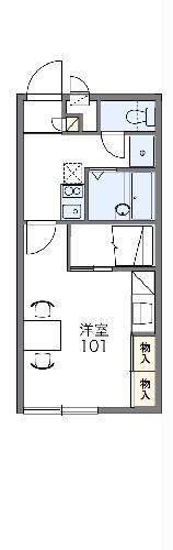 レオパレスSK高麗川Ⅱ・201号室の間取り
