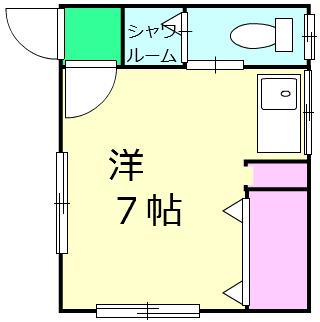 桂三荘・101号室の間取り