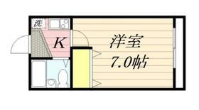 コンフォートU・0103号室の間取り