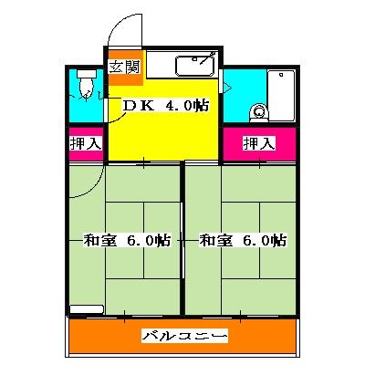 マンション三鈴・101号室の間取り