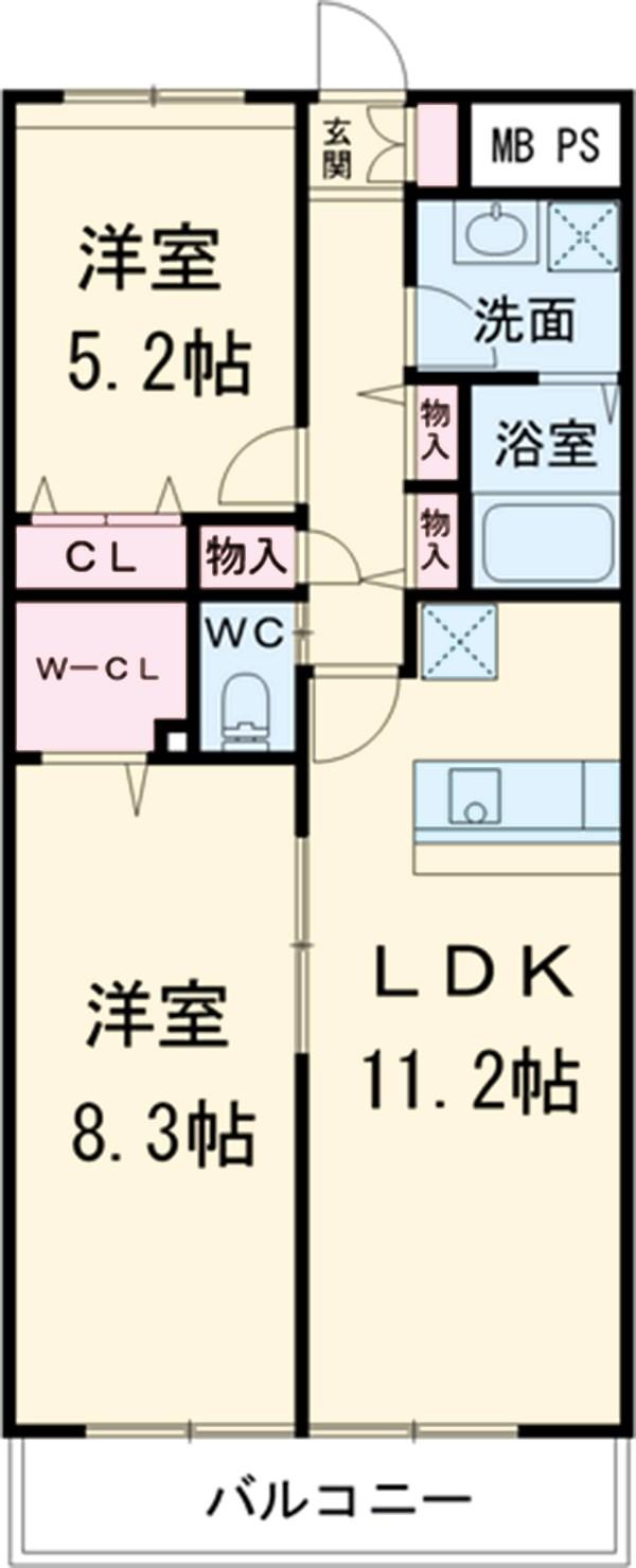 G-PLACE282・302号室の間取り