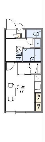 レオパレスMIA・206号室の間取り