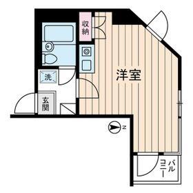 共立リライアンス上野町Ⅰ 0308号室の間取り