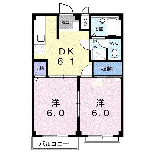 ガーデンシティハイツA 02020号室の間取り