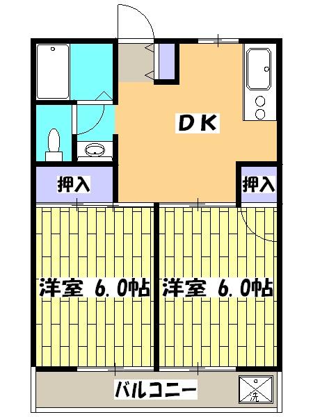けやきマンションⅡ・00102号室の間取り
