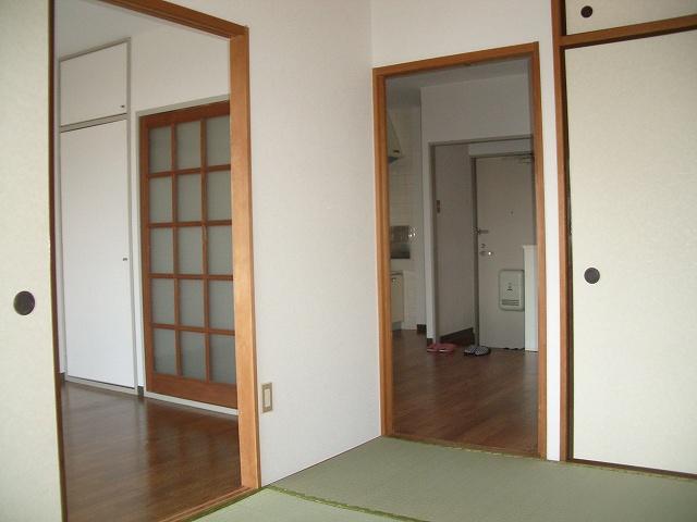 ランドロードヌマタA 02030号室のベッドルーム