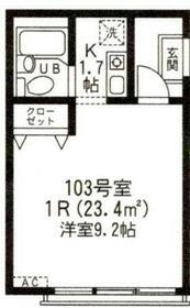 カサ・レモーナ・103号室の間取り
