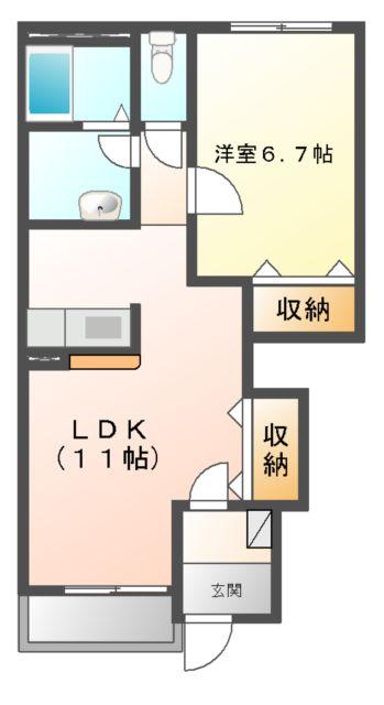コンフォース鳩山 00101号室の間取り