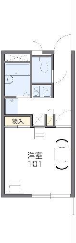 レオパレスTAKAHASHI Homes・103号室の間取り
