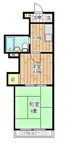 上福岡第2宝マンション 207号室の間取り