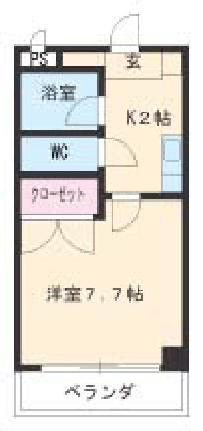 第2さくらマンション中央・203号室の間取り