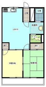ビューハイム昭島Ⅱ・202号室の間取り