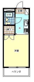 ラフィーネ昭島・202号室の間取り