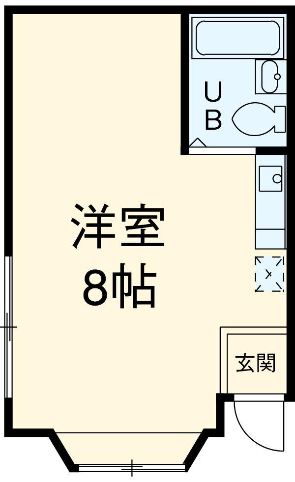 羽成コーポ・102号室の間取り
