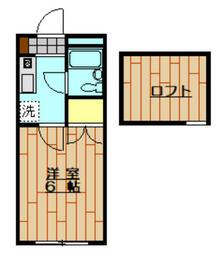 ハイツ上福岡・202号室の間取り