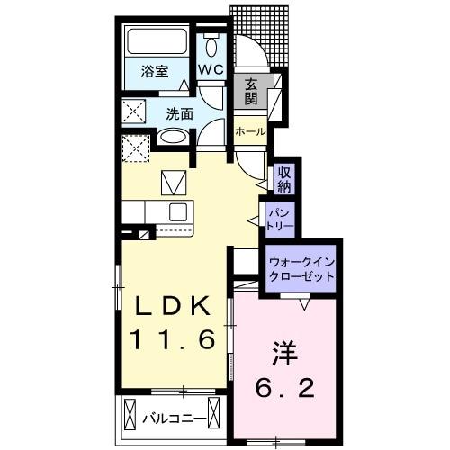 アドニスB 01020号室間取り図