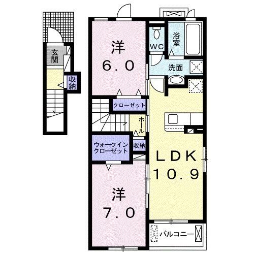 アドニスB 02010号室間取り図