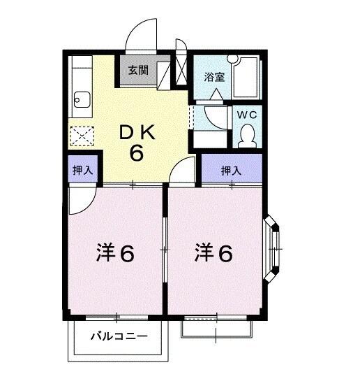 クレインコートハウス 02010号室の間取り