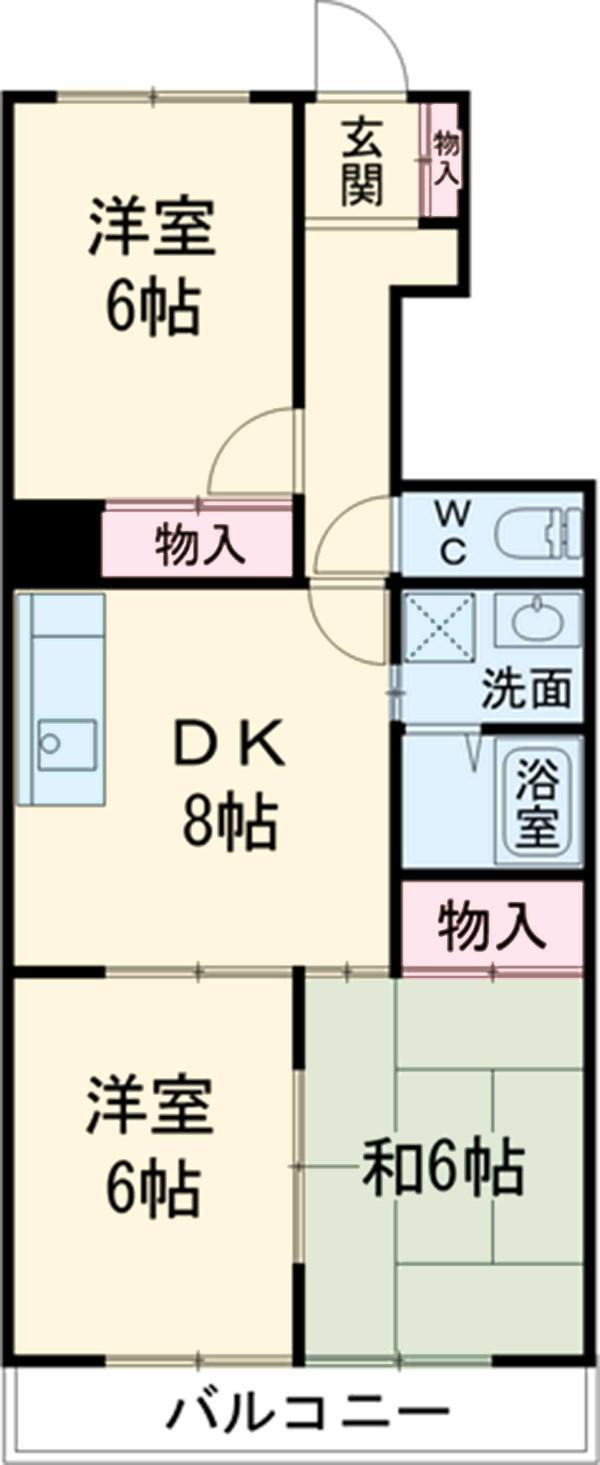 ベルエポックOGAWA・5B号室の間取り