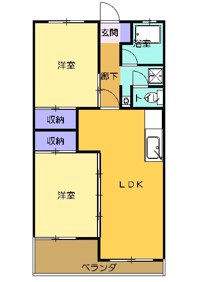 杉浦マンション 305号室の間取り