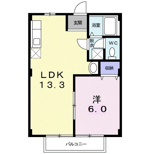 シティハイツ毛呂B・01030号室の間取り