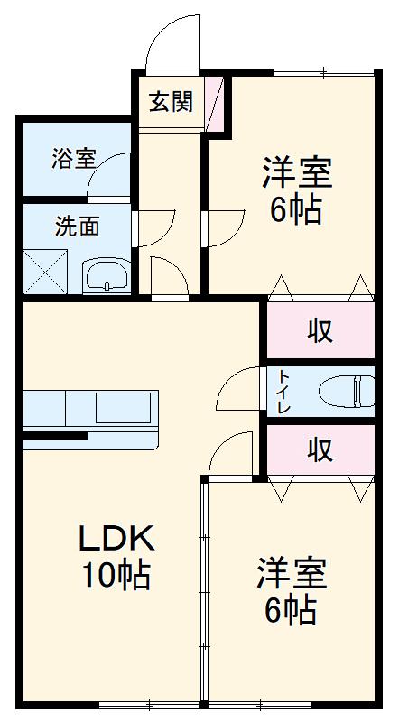 第2岐南ビル 4D号室の間取り