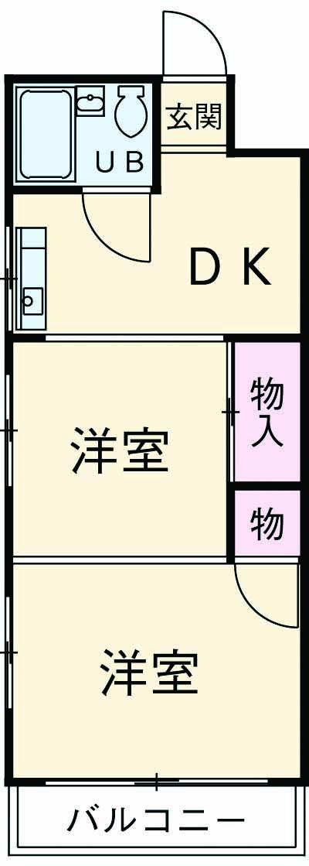 コーポ沢田屋 302号室の間取り