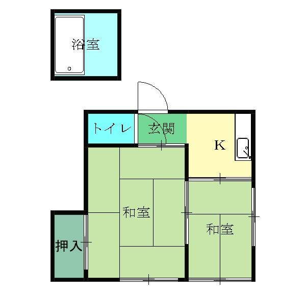下田アパート・6号室の間取り