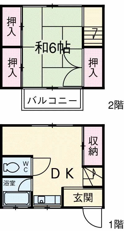 杉崎アパート・2号室の間取り