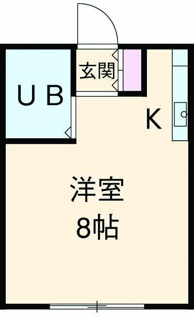 ハイツパート1 1-B号室の間取り