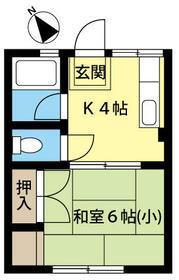 シェモア鶴ヶ島・203号室の間取り
