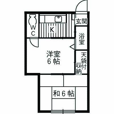 中村アパート・207号室の間取り