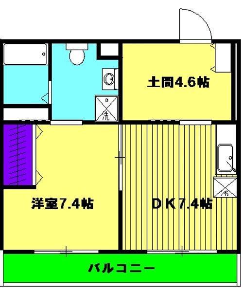 Grand Maison 葵 303号室の間取り