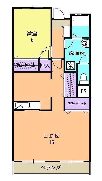 村瀬コーポラスビル・3B号室の間取り