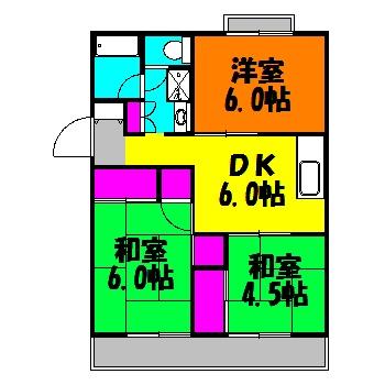 第1西形マンション 205号室の間取り