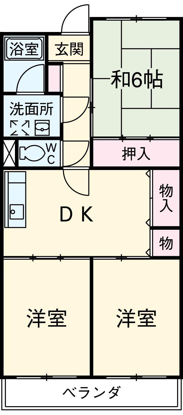 エクセル島崎・202号室の間取り