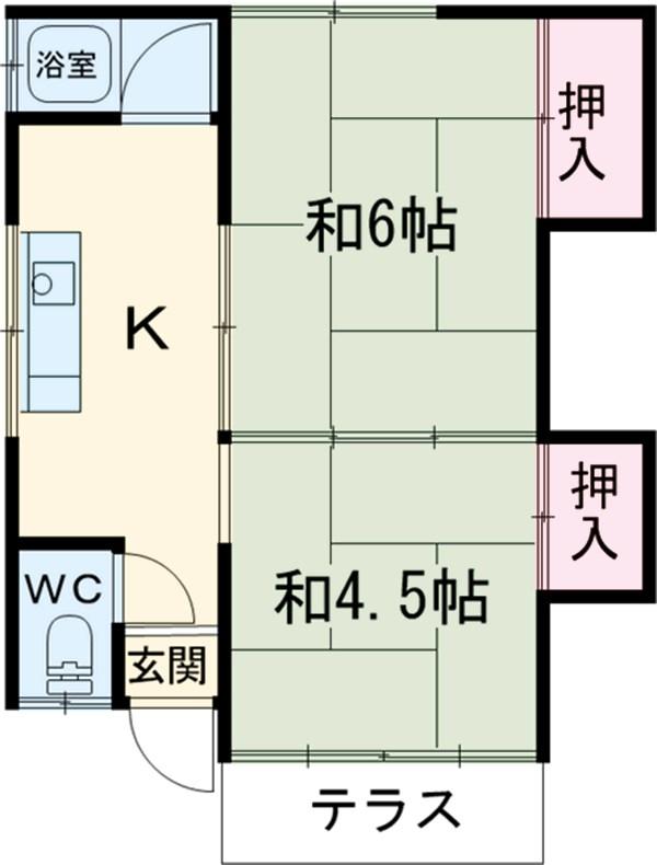杉山アパート・1号室の間取り