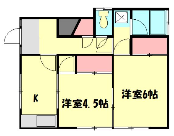 菅沼アパート・201号室の間取り