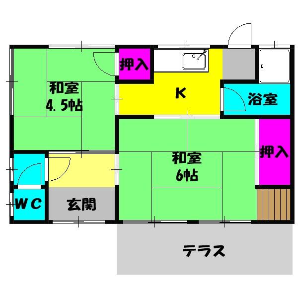 太田貸家2・2号室の間取り