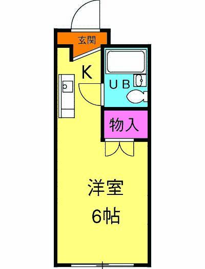 コンフォートマンション北戸田 535号室の間取り