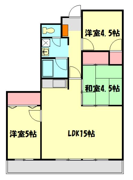 メゾンドール加藤・205号室の間取り