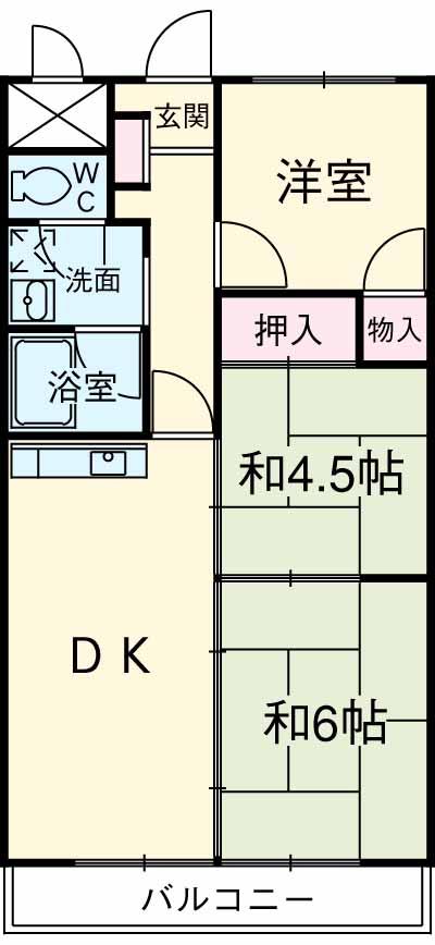 メゾンドール加藤・201号室の間取り