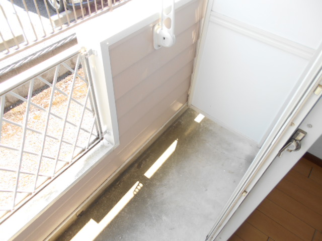 池田ハイツB 115号室のバルコニー